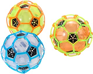 "EIYUN 4"" Electric Bouncing Soccer Toy for Kids,Dancing Singing Flashing Bright Lights Football with Rope Random Color Jump..."