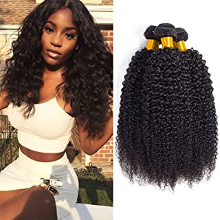 Brazilian Human Hair Bundles Kinky Curly 3 Bundles Wet And Wavy Bulk Human Hair Raw Hair Extension Sew In Weave On Sale Mixed Length Good Quality Natural Color 16 18 20 Inch