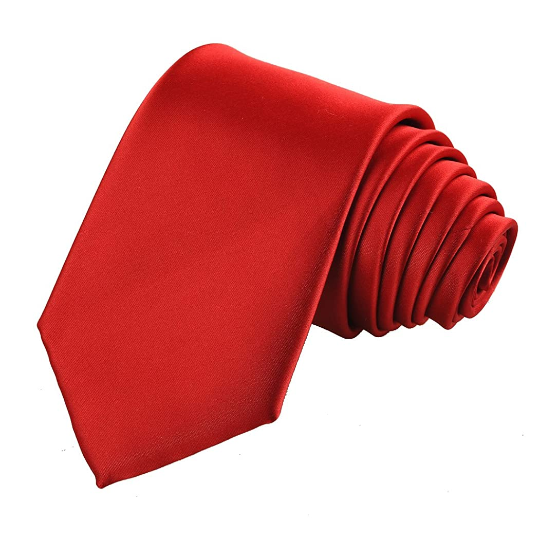 f6e3b1a39433 KissTies Solid Satin Tie Pure Color Necktie Mens Ties + Gift Box