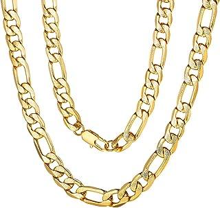 ChainsPro Collier Bl/é Cha/îne Maille Spiga Bl/é Corde Lien Wheat-Largeur 3MM-Longueur 46//51//55//61//66//71//76cm Ton Argent//Noir//Or Collier Homme Femme Cha/îne pour Pendentif DIY Bo/îte Cadeau