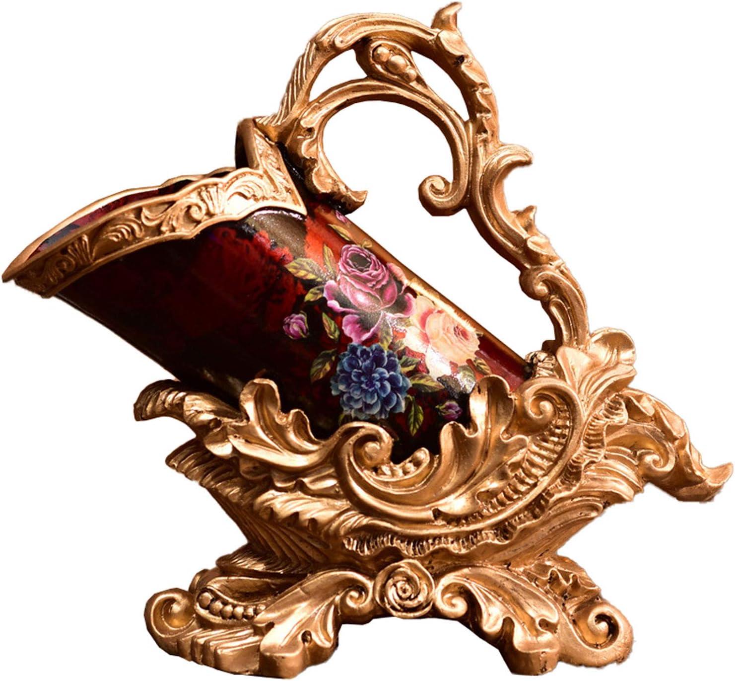 Estante para Vino Estante para Vino, Decoración De Resina Artesanal Pintada, Artesanías Creativas De Resina para El Hogar, Hecho A Mano, con Pintura Retro De Rosas, Estilo Clásico