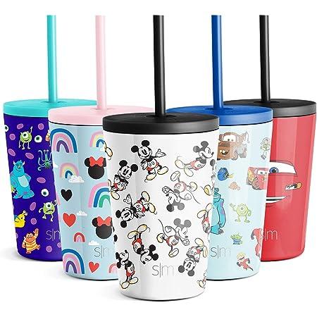 Mickey Bandana Simple Modern Disney 12oz Summit Kids Tritan Water Bottle with Straw Lid for Toddler Disney Dishwasher Safe Travel Tumbler