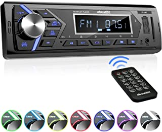 Bluetooth Car Stereo Radio Receiver,Single Din Mechless Digital Media Receiver Support FM/AM/USB/SD/FLAC/MP3/Aux-in with 7...