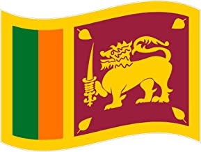 Waving flag Sri Lanka 3x5 inches symbol world peace love humor 'murica america united states color sticker state decal vinyl - Made and Shipped in USA