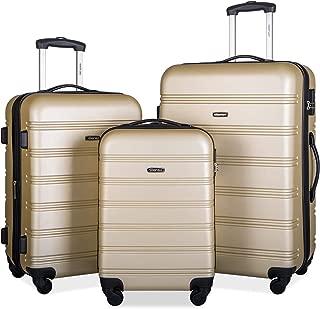 Travelhouse Luggage Set 3 Piece Expandable Lightweight Spinner Suitcase