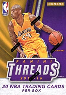 2015/16 Panini THREADS NBA Basketball Factory Sealed Blaster Box with TWO(2) AUTOGRAPH/MEMORABILIA on Average! Look for RCs & Autos of Karl-Anthony Towns, Kristaps Porzingis & Many More! WOWZZER!
