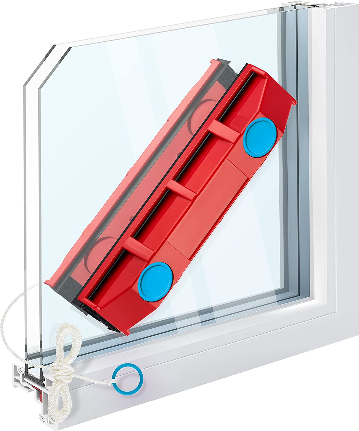 Tyroler Bright Tools The Glider D-2, Magnetic Window Cleaner for Double Glazed Windows Fit to 0.3 -0.7  Window thickness.