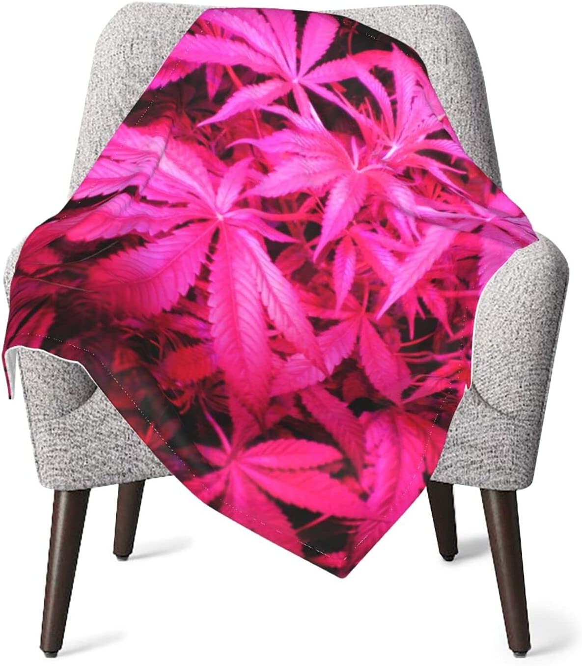 JZDACH Baby Essentials Throw and Pink Weed Columbus Mall famous Leaf B Receiving