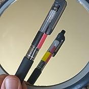 Zebra B4SA1 Clip-on multi 4+1 Transparent Multifunctional Pen 4pcs Red and Green 0.7mm Refills Value Set SK-0.7 Black Blue