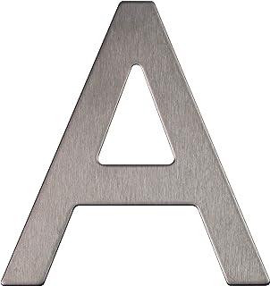 Letter van roestvrij staal, zelfklevend, hoogte 7,6 cm, huisbrief, design deurbrief (A)