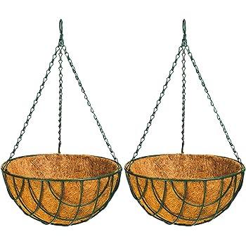 Garden King 12 Inch Coir Hanging Basket (Set of 2) Coir Hanging Pots for Garden