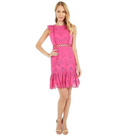 Sam Edelman Eyelet Dress (Hot Pink) Women