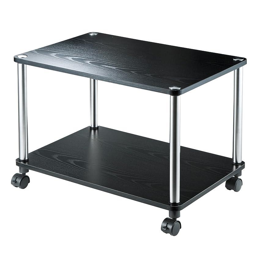 四分円剛性ロボットイーサプライ テレビ台 幅60cm キャスター 移動式 木製 黒 24-40インチ サイドテーブル 簡易テーブル EEX-TVT01