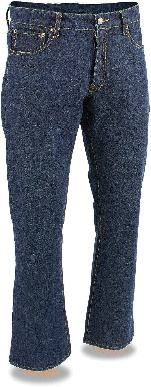 Milwaukee Leather MDM5008 Men's Excellence Blue 5 Japan's largest assortment Infuse Jeans Pocket Denim