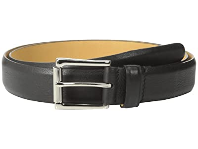 Cole Haan 32mm Burnished Edge Mill Egyptian Cow Belt (Black) Men
