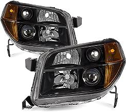 VIPMOTOZ Black Housing OE-Style Headlight Headlamp Assembly For 2006-2008 Honda Pilot, Driver & Passenger Side