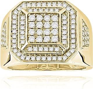 Mens Diamond Pinky Ring 14K Gold Band 1ctw by Luxurman