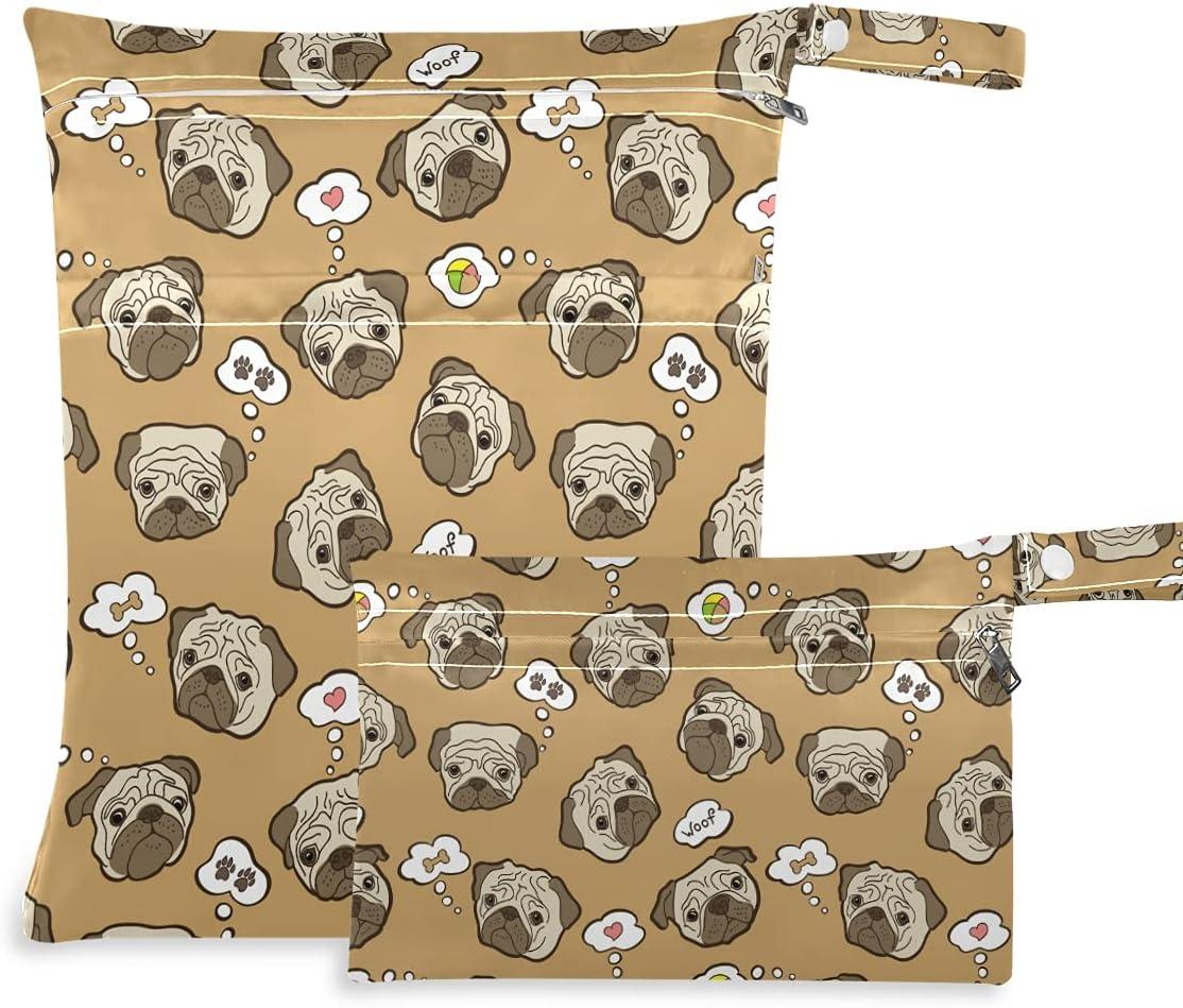 OTVEE Max 72% OFF Cute Pug Dog Pattern Brown Wet Pcs Waterproof Dry Bag OFFicial site R 2