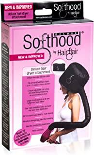 Bonnet Hood Hair Dryer Attachment Hair Flair Deluxe Softhood (Black)