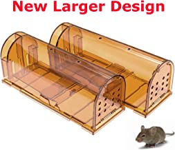 CaptSure Original Humane Mouse Traps, Easy to Set, Kids/Pets Safe, Reusable for Indoor/Outdoor use, for Small Rodent/Voles/Hamsters/Moles Catcher That Works. 2 Pack (Large)