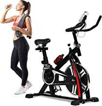 Exercise Bike Recumbent Spin Cycling Bike Indoor Cycle Stationary Workout Equipment with Pulse W/LCD Display and Adjustabl...