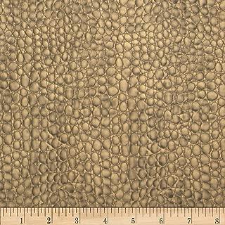 Plastex Fabrics Faux Leather Crocodile, Dark Gold