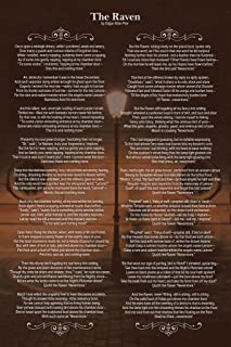 Edgar Allan Poe The Raven Art Print Laminated Dry Erase Sign Poster 12x18