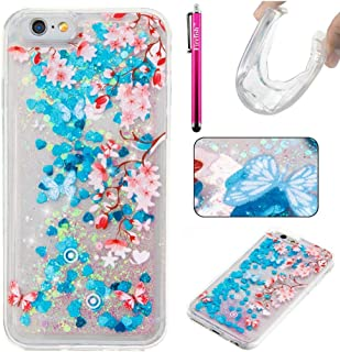 iPhone 7 Case, Firefish [Slim Fit] Creative Moving Quicksand Anti-Slip [Shock Absorption] Soft TPU Gel Silicone Protective Cover for Girls Children Fits for Apple iPhone 7 2016 iPhone 7 Multi