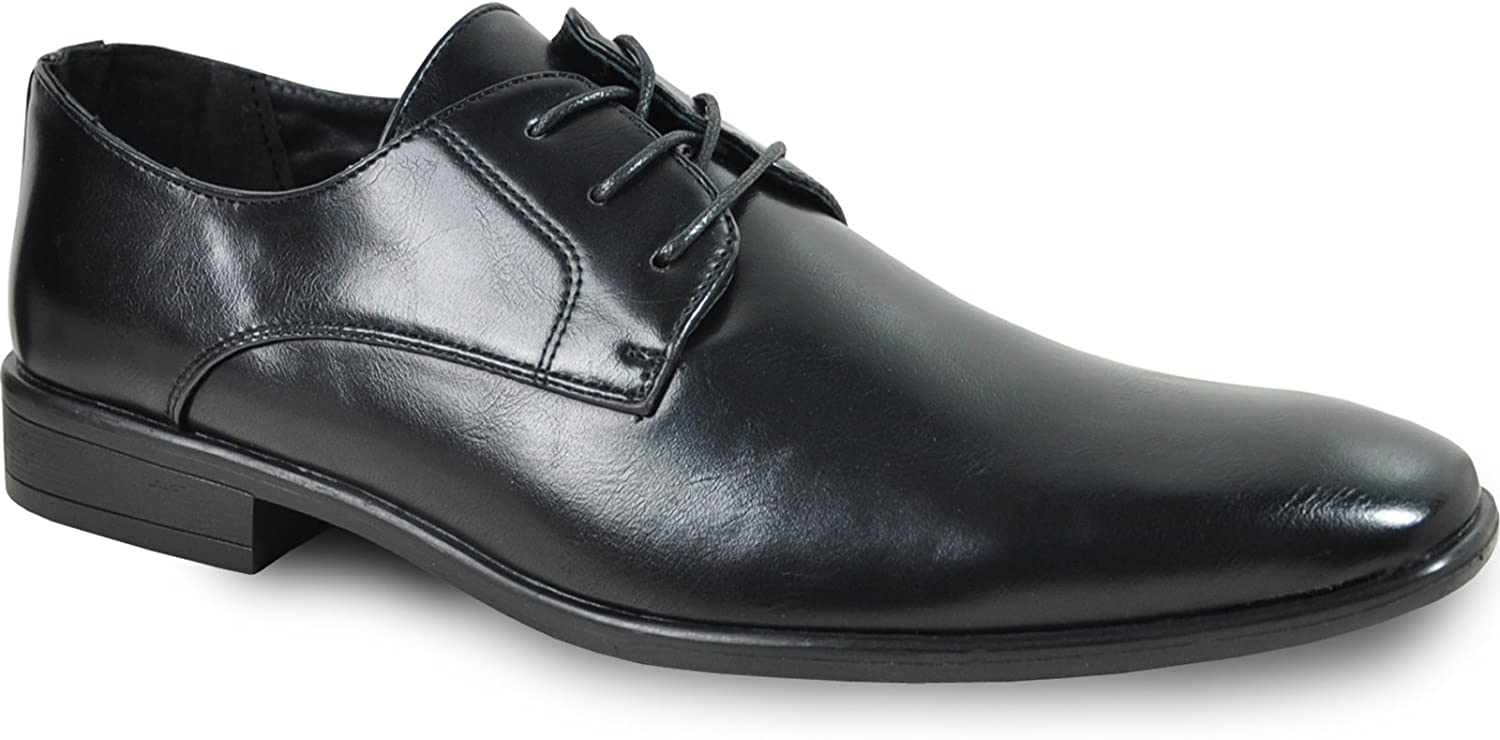Bravo! Men Dress Shoe King Classic Oxford with Leather Lining - Wide Width Available