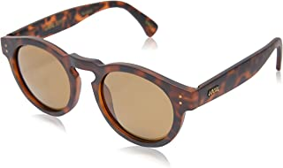 Local Supply Men's FREEWAY Polarized Sunglasses - Dark Brown Tint Lens, Matte Tortoiseshell Frames