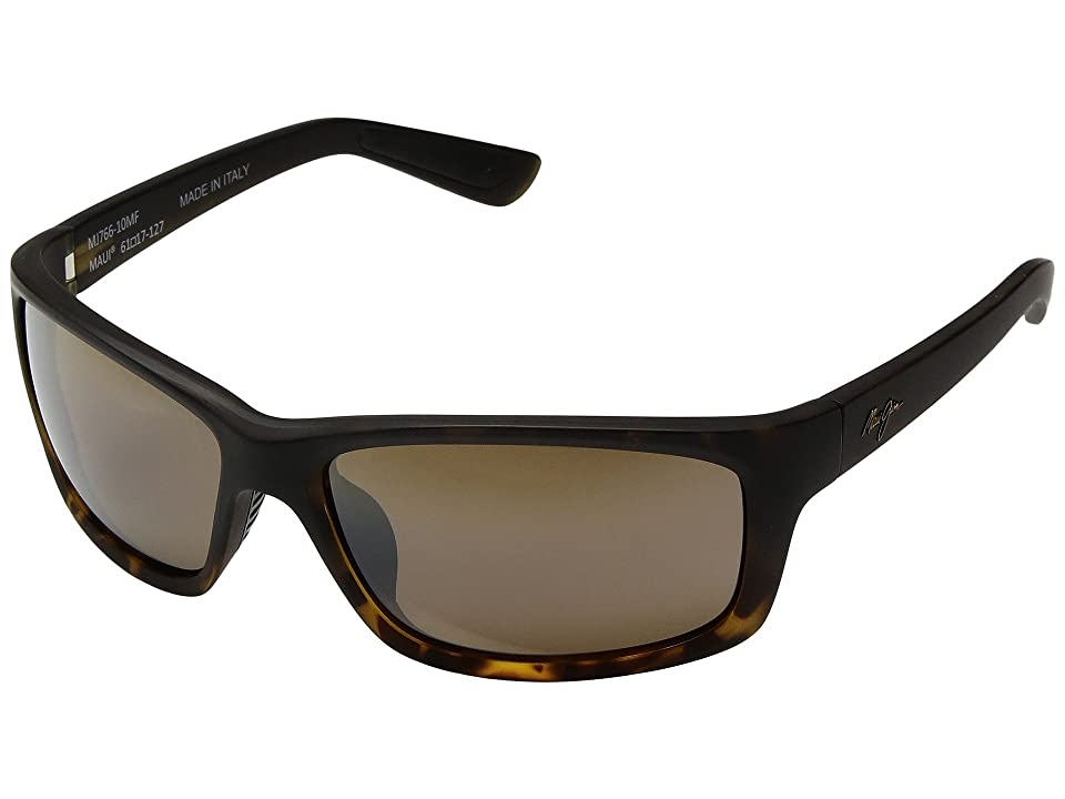 Maui Jim Kanaio Coast (Matte Tortoise Ombre/HCL Bronze) Athletic Performance Sport Sunglasses