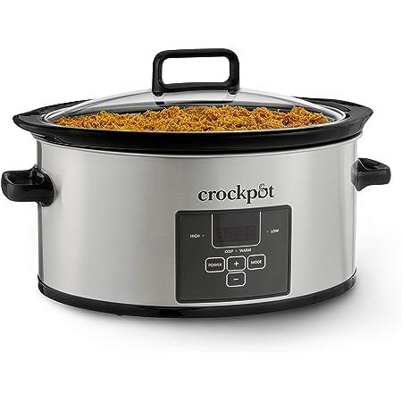 Crock-Pot Choose-a-Crock Digital Countdown Slow Cooker Stainless Steel, 6-Quart