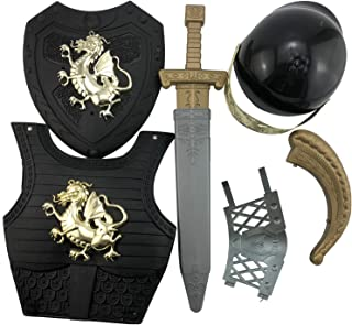 Kids Toys Sparta Knight Suit Costume for Boys Wear Armor of God Dragon Warfare Roman Warrior Set Stage Cosplay