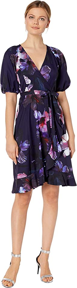 Dreamy Hibiscus Wrap Dress