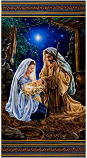 Timeless Treasures Digital Glory 24'' Nativity Panel Multi Fabric