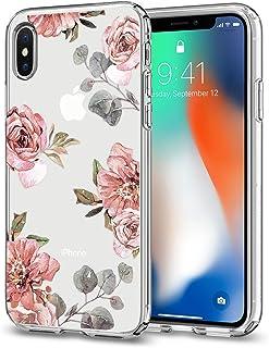 Spigen iPhone X Liquid Crystal Aquarelle Rose case/cover - Crystal Clear