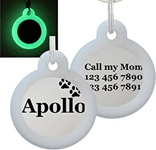 Double Sided Laser Etched Stainless Steel Pet ID Tag for Dog and Cat Engraved and Personalized 1