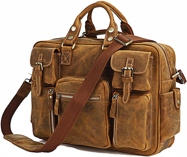 Professional Bag Men's Messenger Bag Casual Multifunctional Travel Bag Outdoor Travel Essentials (color   Brown)