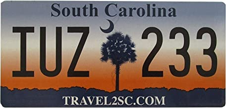 South Carolina 2015 License Plate Nice Quality # Iuz 233 License Plate 6X12 Inches