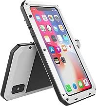iPhone XR Case,Full Body Shockproof Aluminum Alloy Dustproof Metal Gorilla Glass Cover Case for Apple iPhone XR (White-TK)