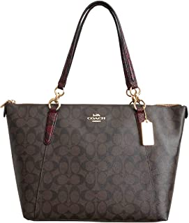 Coach Women's Crossgrain Leather Ava Tote
