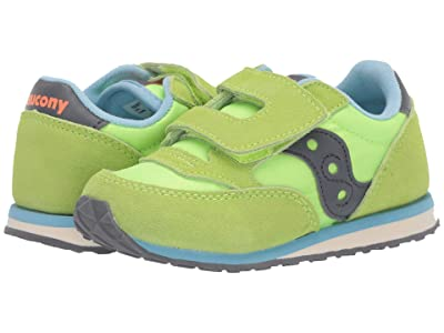 Saucony Kids Originals Jazz Hook Loop (Toddler/Little Kid) (Citron) Boys Shoes