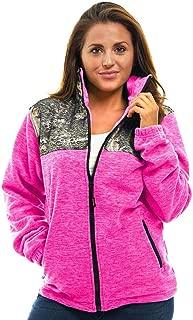 TrailCrest Women's C-Max Full Zip Polar Fleece Jacket Mossy Oak Camo Patterns