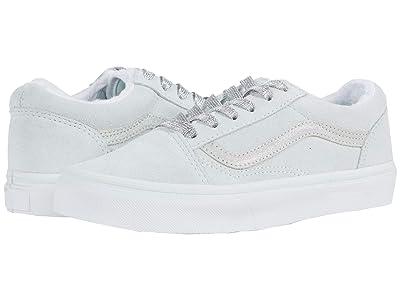 Vans Kids Old Skool (Big Kid) ((Sherpa Suede) Billowing Sail/Holographic) Girls Shoes
