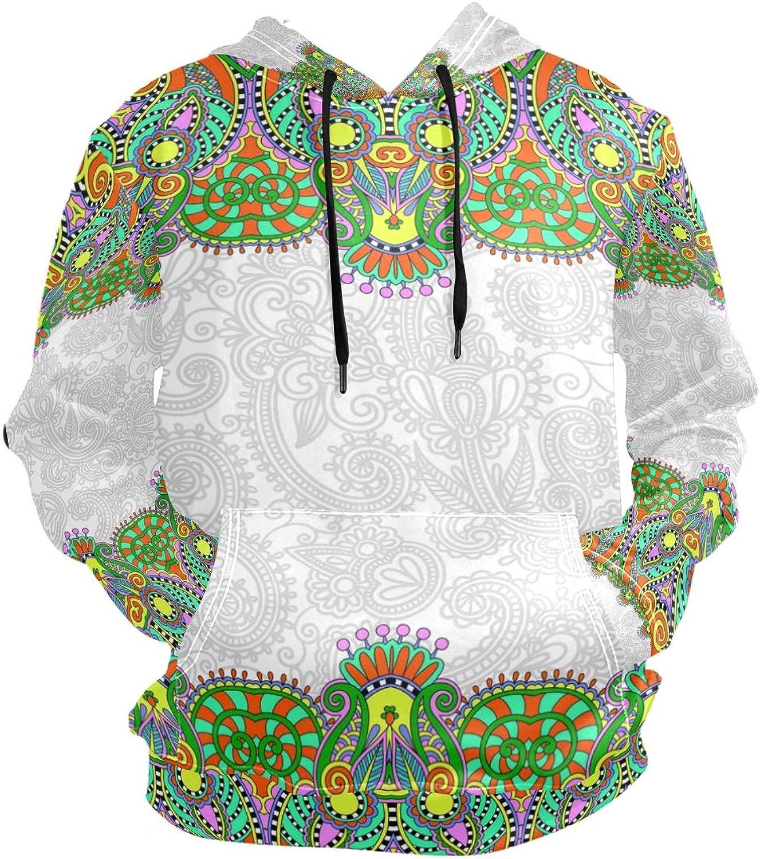 FANTAZIO Hooded Sweatshirt Green Ethnic Bohemian Men's Causal Outwear Tops Tops Tops 9377bd