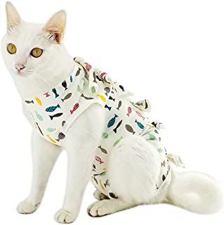 Yizhi Miaow Professional Recovery Suit for Abdominal Wounds and Skin Diseases,E-Collar Alternative for Cats and Dogs, After Surgey Wear, Recommended by Vets