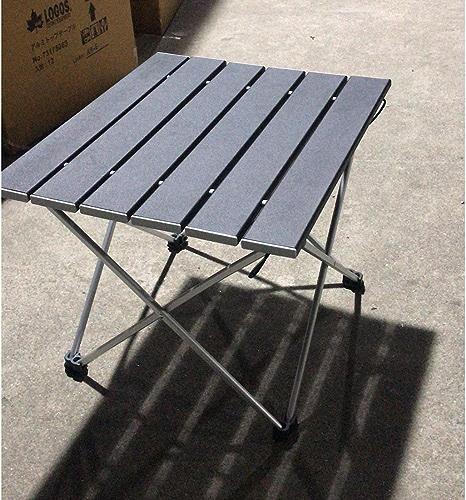 Hexiansheng Tables de camp Portable pliable en plein air léger portable Taille appropriée pliant en aluminium Table de camping avec sac de transport pour le camping en plein air, la randonnée et le pi