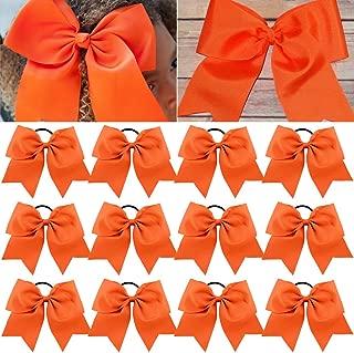 Large Cheer Bows Ponytail Holder Girls Elastic Hair Ties 8