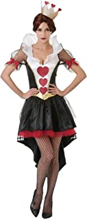 Queen of Hearts Women's Halloween Costume - Red Card Dress and Crown