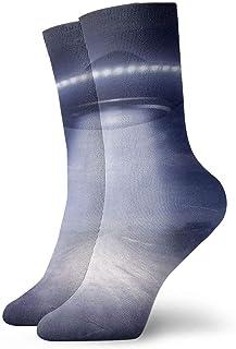 Calcetines deportivos deportivos de poliéster divertidos para hombre, para mujer, medias deportivas azules, para hombre, 30 cm